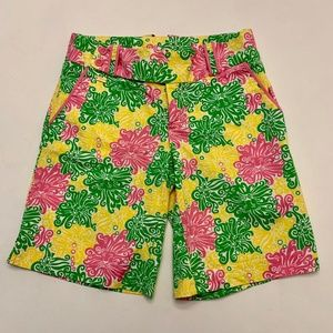 LILLY PULITZER Bermuda shorts lion print Size 2